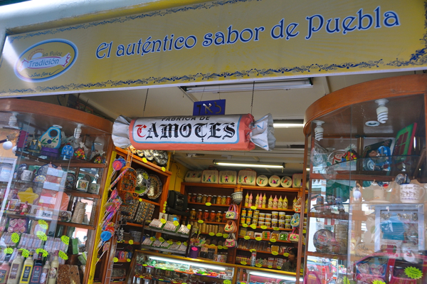 Typical Puebla sweet store
